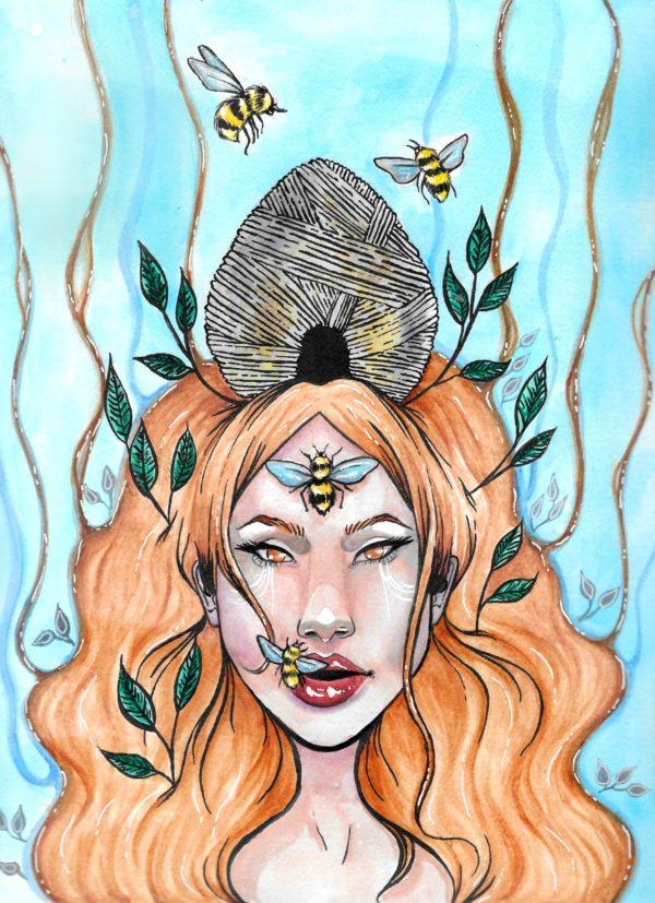 queen bee painting